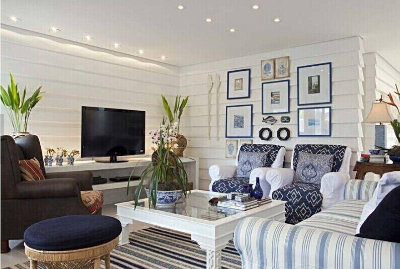 現代風格客廳石膏線背景墻裝修效果圖