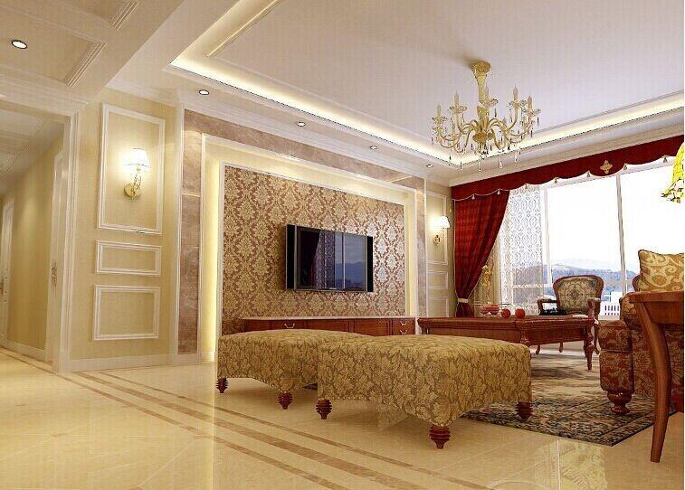 客厅石膏线装修 效果 图