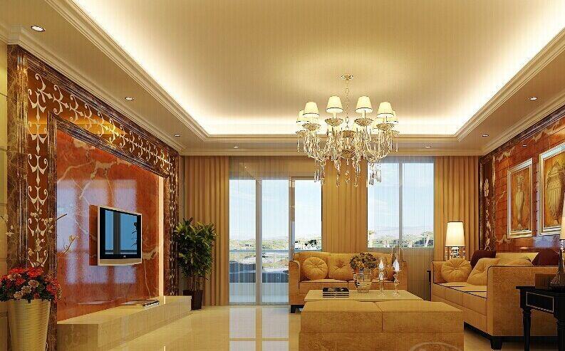 客厅石膏线装修效果图
